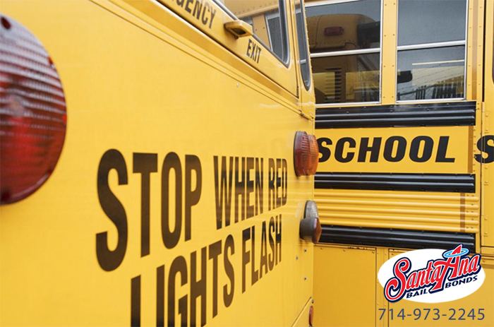stop for school busses in california